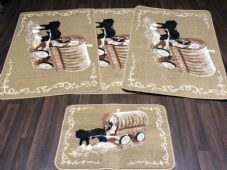 ROMANY GYPSYS WASHABLES NEW 2018 SETS OF 4 MATS BEIGE/CREAM NON SLIP HORSES